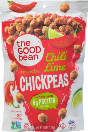 The Good Bean Smoky Chili Lime Chickpeas Perspective: front
