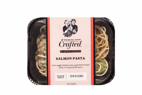 Eat Local Keto Mediterranean Salmon Pasta Frozen Meal Perspective: front