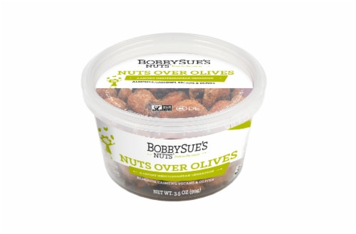BobbySue's Nuts Nuts Over Olives Nut Mix Perspective: front