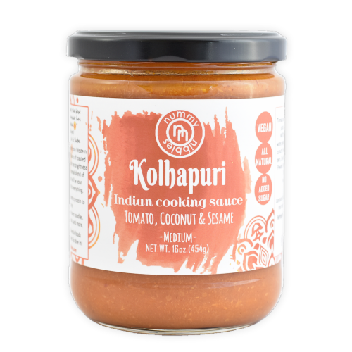 Nummy Nibbles Medium Kolhapuri Indian Cooking Sauce Perspective: front