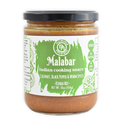 Nummy Nibbles Kinda Hot Malabar Indian Cooking Sauce Perspective: front