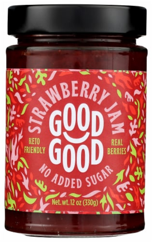 Good Good No Added Sugar Strawberry Jam Perspective: front
