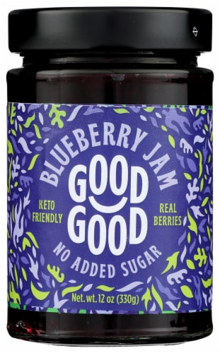 Good Good No Added Sugar Blueberry Jam Perspective: front