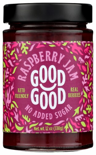 Good Good No Added Sugar Raspberry Jam Perspective: front