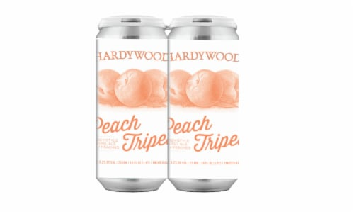 Hardywood Peach Tripel Fruited Ale Perspective: front