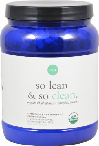 Ora  So Lean & So Clean Organic & Plant-Based Superfood Protein   Organic Vanilla Perspective: front