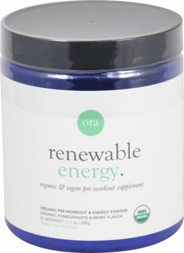 Ora  Renewable Energy Pre-Workout   Organic Pomegranate & Berry Perspective: front