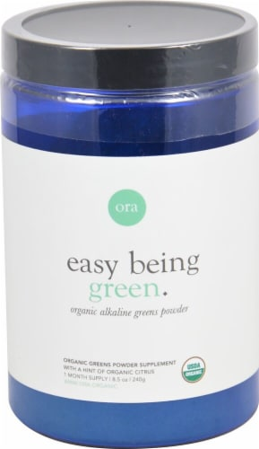 Ora  Easy Being Green Organic Alkaline Greens Powder   Citrus Perspective: front
