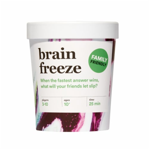 Player Ten Brain Freeze Family Card Game Perspective: front