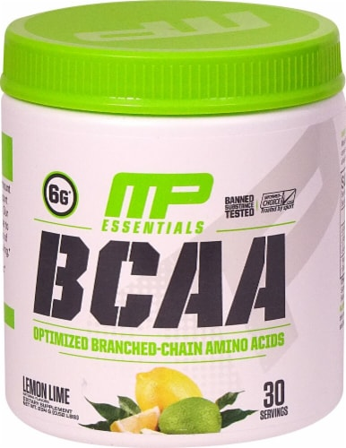 MusclePharm  BCAA Essentials Powder   Lemon Lime Perspective: front