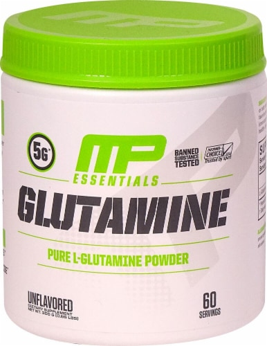 MusclePharm  Glutamine Essentials   Unflavored Perspective: front