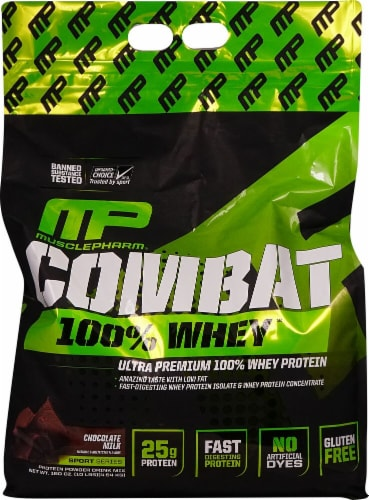MusclePharm  Combat 100% Whey   Chocolate Milk Perspective: front