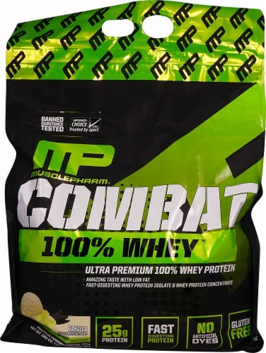 MusclePharm  Combat 100% Whey   Vanilla Perspective: front