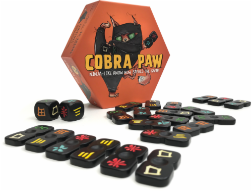Bananagrams Cobra Paw Game Perspective: front