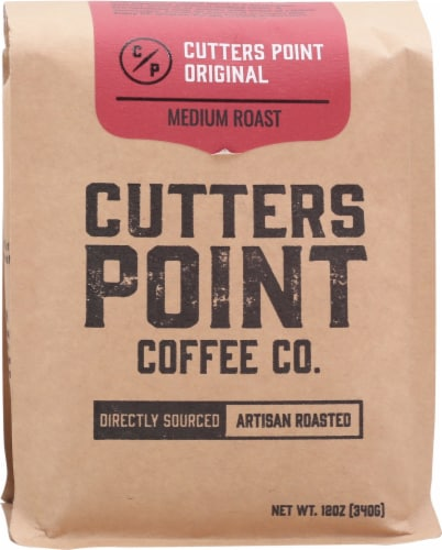 Cutters Point Coffee Co. Original Ground Coffee Medium Roast Perspective: front