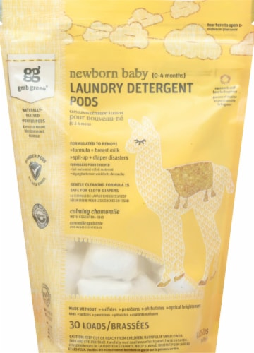 Grab Green Chamomile Newborn Laundry Detergent Pods Perspective: front