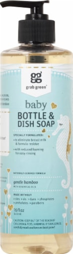 Grab Green Gentle Bamboo Baby Bottle & Dish Soap Perspective: front