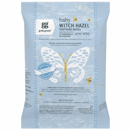 Grab Green Baby Witch Hazel Wipes - Rosewood Perspective: front