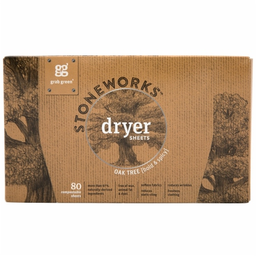 Grab Green Stoneworks Oak Tree Dryer Sheets Perspective: front