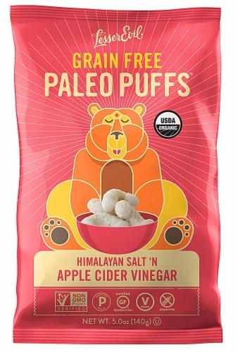 LesserEvil Himalayan Salt 'N Apple Cider Vinegar Grain Free Paleo Puffs Perspective: front