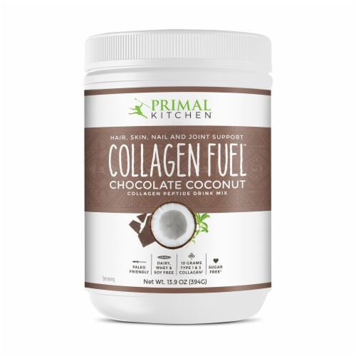 Primal Kitchen Collagen Fuel Chocolate Coconut Collagen Peptide Drink Mix Perspective: front