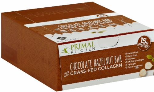 Primal Kitchen Chocolate Hazelnut Collagen Bar Perspective: front