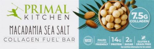 Primal Kitchen Macadamia Sea Salt Collagen Bar Perspective: front
