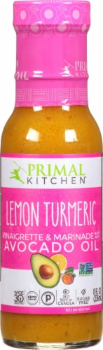 Primal Kitchen Lemon Turmeric Avocado Oil Vinaigrette Perspective: front