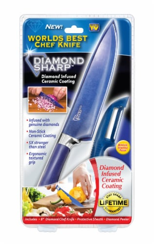 Diamond Sharp Diamond Infused Chef Knife - Blue Perspective: front