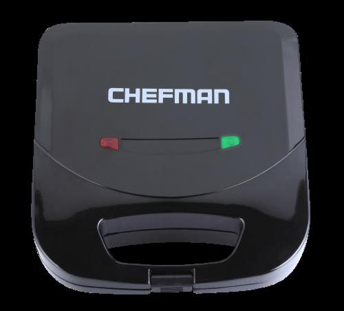Chefman Electric Sandwich Maker Machine - Black Perspective: front