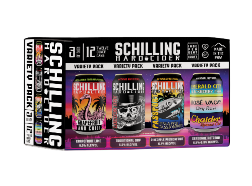 Schilling Hard Cider Variety Pack Perspective: front