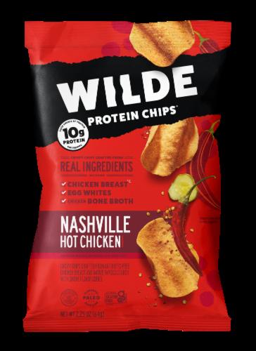 Wilde Gluten Free Nashville Seasoned Hot Chicken Chips Perspective: front