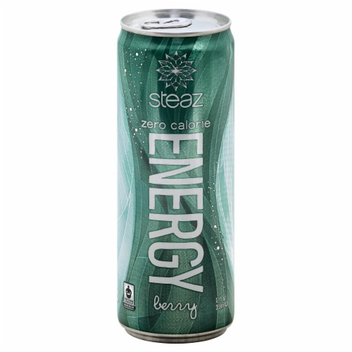 Steaz Zero Calories Berry Energy Drink Perspective: front