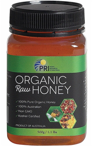 PRI BeePower Organic Raw Honey Perspective: front