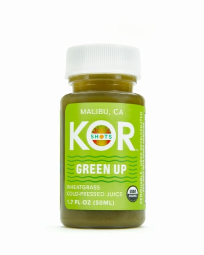 Kor Shots Organic Wheatgrass Cold-Pressed Juice Perspective: front