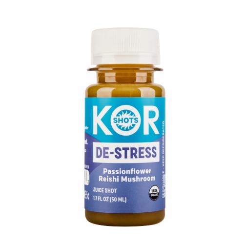 Kor Shots Organic De-Stress Passionflower Dietary Supplement Perspective: front