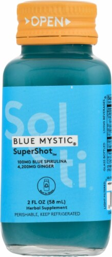 Sol-ti Blue Mystic SuperShot Herbal Supplement Perspective: front