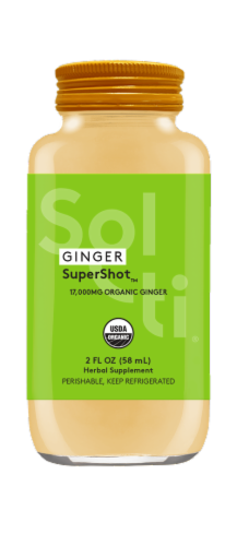 Sol-ti Ginger SuperShot Herbal Supplement Perspective: front