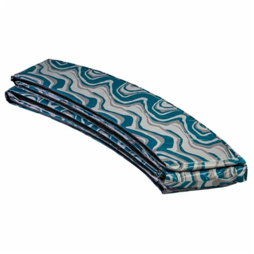 Super Spring Cover - Safety  Pad, Fits 10 FT Round Trampoline Frame  - Maui Marble Perspective: front