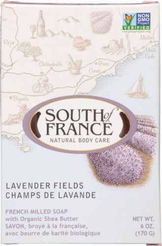 South Of France Lavender FieldsBar Soap Perspective: front