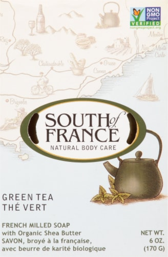 South of France Green Tea Bar Soap Perspective: front
