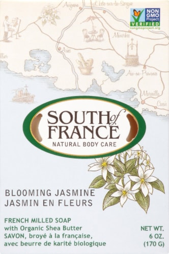 South of France Bloomimg Jasmine Bar Soap Perspective: front