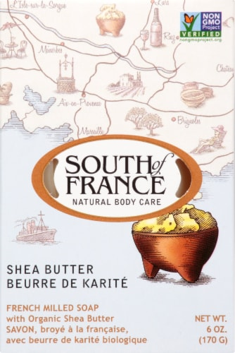 South of France Shea Butter Bar Soap Perspective: front