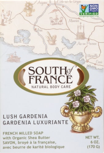South Of France Gardenia Bar Soap Perspective: front