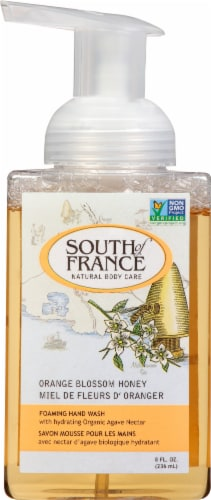 South of France Orange Blossom Honey Foaming Hand Wash Perspective: front