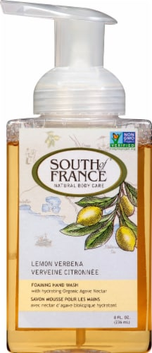 South of France Foaming Hand Wash Lemon Verbena Perspective: front