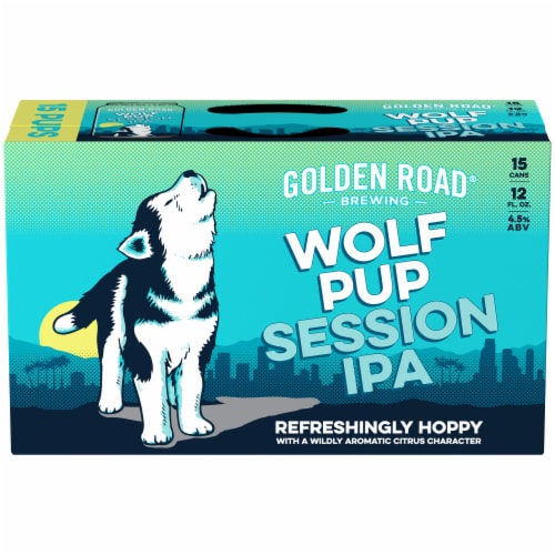 Golden Road Brewing Wolf Pup Session IPA Perspective: front