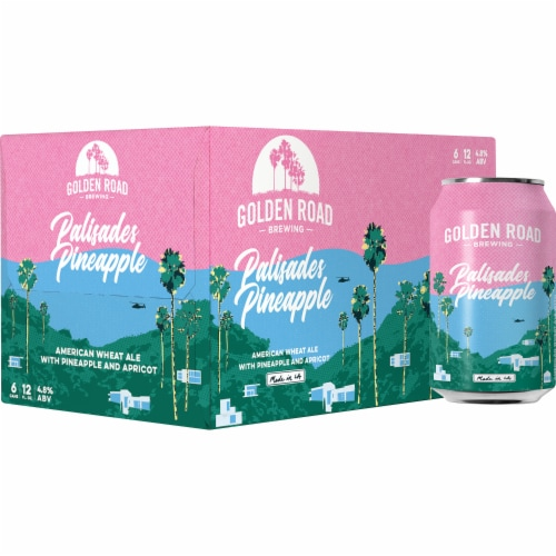 Golden Road Palisades Pineapple American Wheat Ale Perspective: front