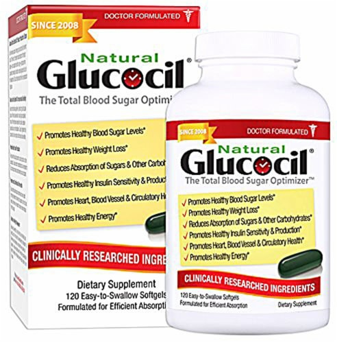 Neuliven Health  Natural Glucocil Total Blood Sugar Optimizer Perspective: front