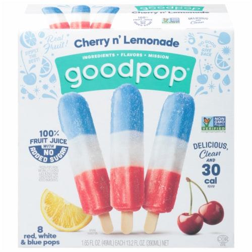 Goodpop Cherry + Lemonade Frozen Pops 8 Count Perspective: front